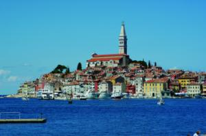 Rovinj from the sea